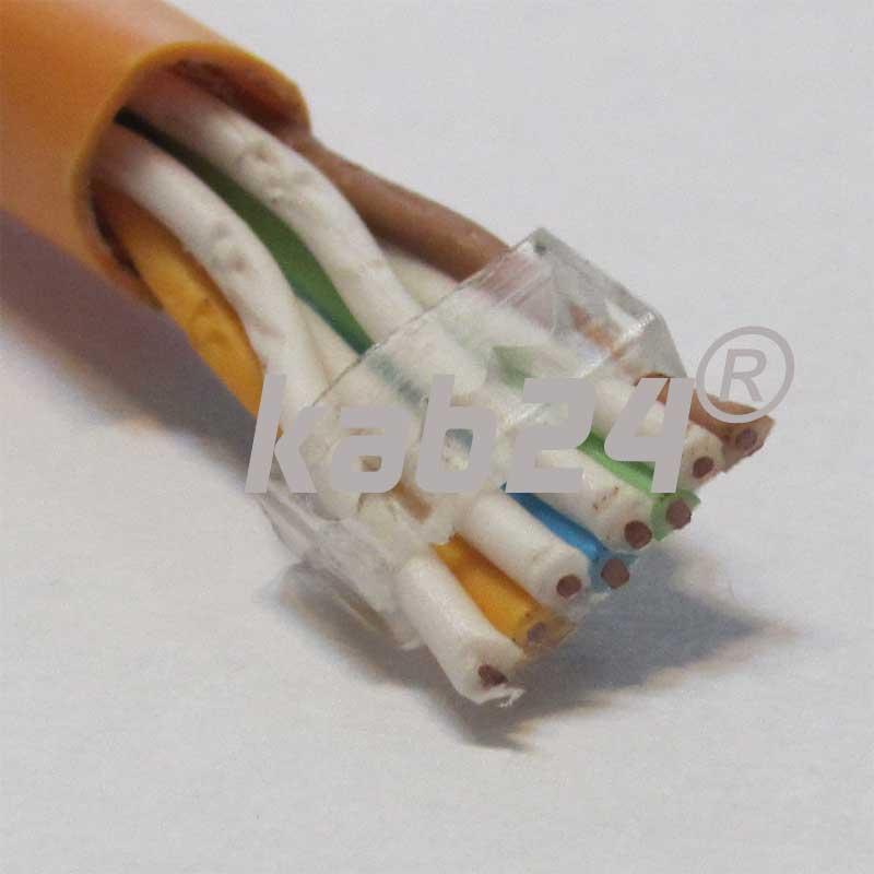 kab24 netzwerk cat6 rj45 stecker f r cat7 verlegekabel netzwerk. Black Bedroom Furniture Sets. Home Design Ideas