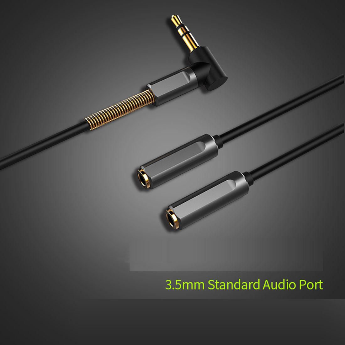 JOYROOM JR-S605 Aux-Y Kabel 1 x 3,5mm stereo Klinkenstecker auf 2 ...