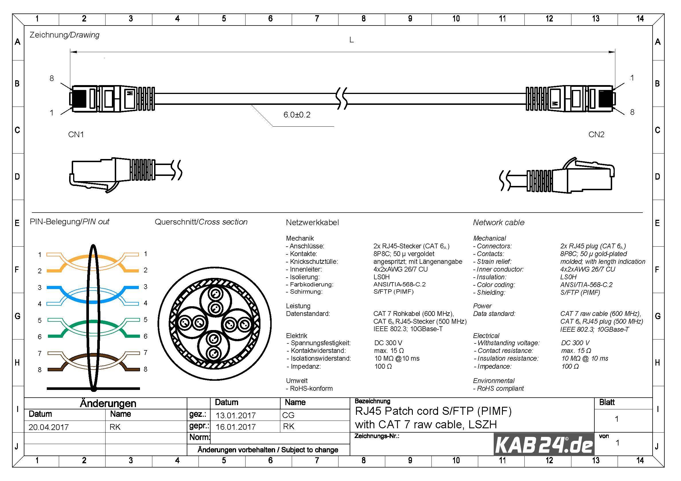 kab24 rj45 patchkabel orange netzwerkkabel computerkabel cat 7 rohkabel 600 mhz halogenfrei 10. Black Bedroom Furniture Sets. Home Design Ideas