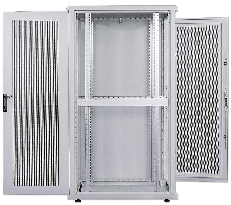 kab24 netzwerkschrank serverschrank 19 zoll 26 he grau h 128 4 x b 60 x t 100cm netzwerk. Black Bedroom Furniture Sets. Home Design Ideas