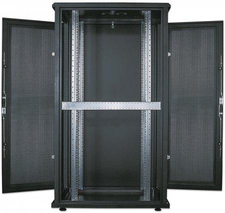 kab24 netzwerkschrank serverschrank 19 zoll 42 he schwarz montiert h 205 7 x b 80 x t 100cm. Black Bedroom Furniture Sets. Home Design Ideas