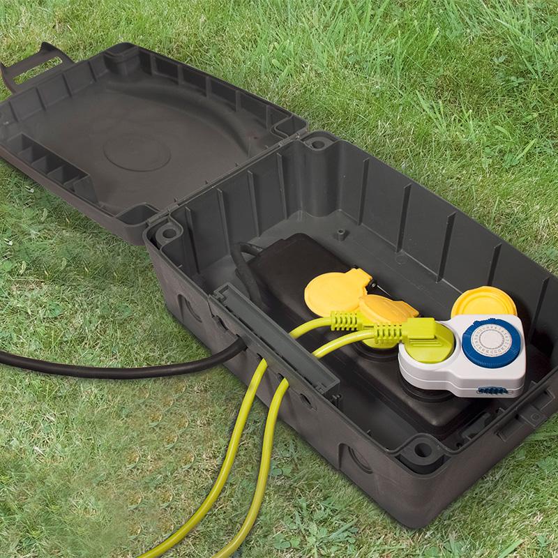 Top Masterplug Kabelbox Set für den Außenbereich 3-fach VZ84