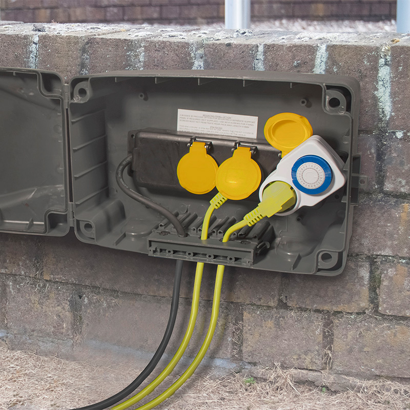 masterplug kabelbox set fuer den aussenbereich  fach