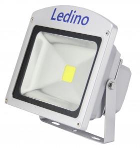 ledino led flutlichtstrahler 20w 20 watt hochleistungs leds 1800 l 6000k silber led flg20scw. Black Bedroom Furniture Sets. Home Design Ideas