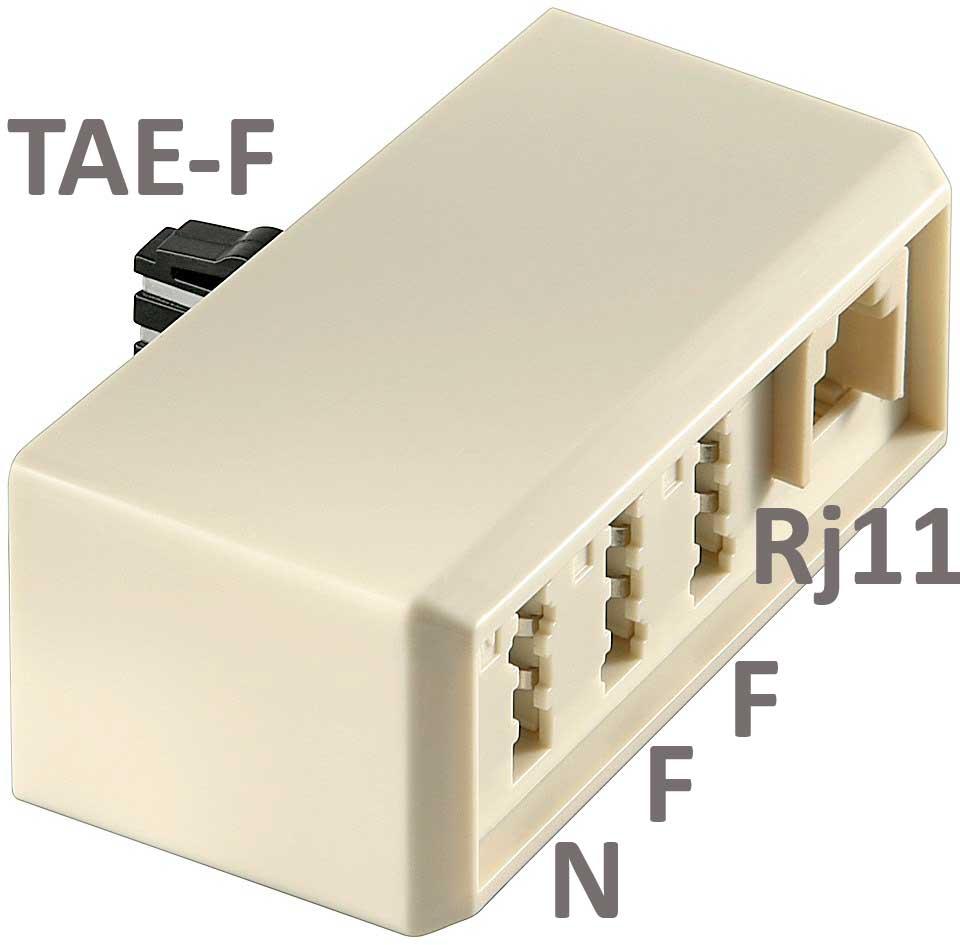 kab24 tae kompaktdapter verteiler f stecker auf tae nff und rj11 buchse kommunikation. Black Bedroom Furniture Sets. Home Design Ideas