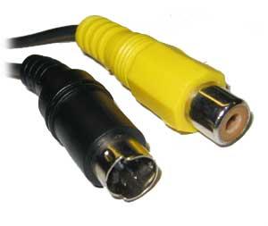svhs stecker auf cinch buchse kabeladapter 0 2m audio video. Black Bedroom Furniture Sets. Home Design Ideas