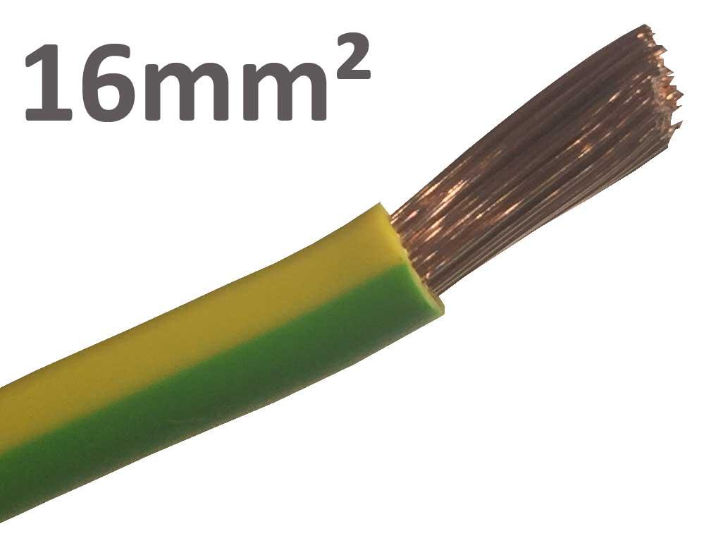Kab24® PVC Aderleitung Erdungskabel feindrähtig H07V-K 1x16 mm² ...