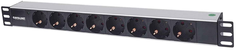 intellinet 19 zoll 8 fach steckdosenleiste ohne schalter mit kontroll led 1 5m kabel strom. Black Bedroom Furniture Sets. Home Design Ideas