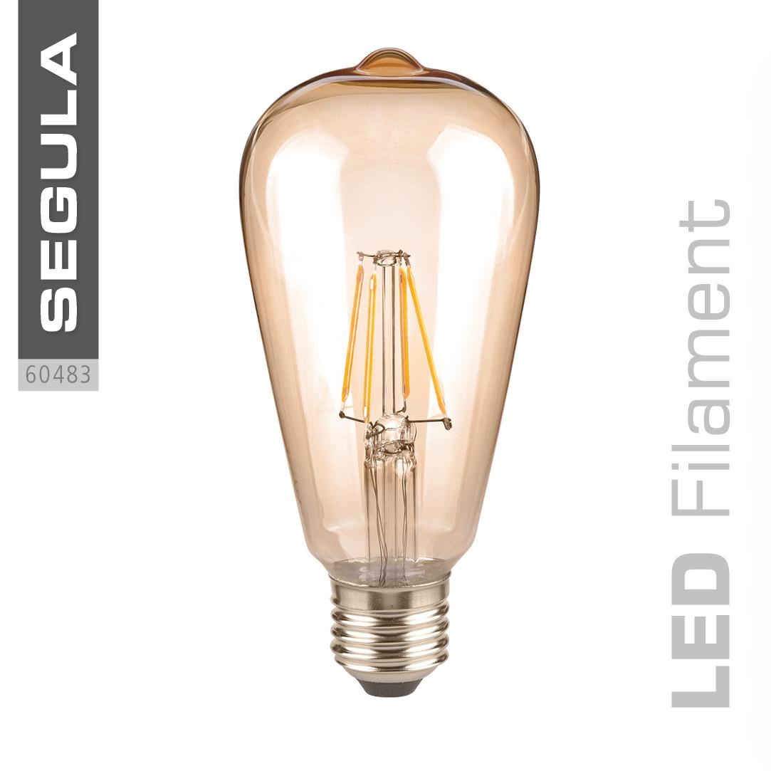 led filament langkolben lampe e27 sockel golden rustika 4 w ersetzt 40 w 420 lm k strom. Black Bedroom Furniture Sets. Home Design Ideas