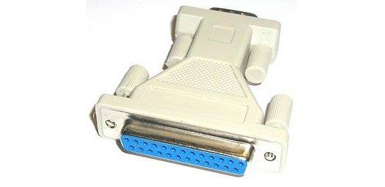 rs232 adapter dsub 9 poliger stecker auf 25 polige buchse. Black Bedroom Furniture Sets. Home Design Ideas