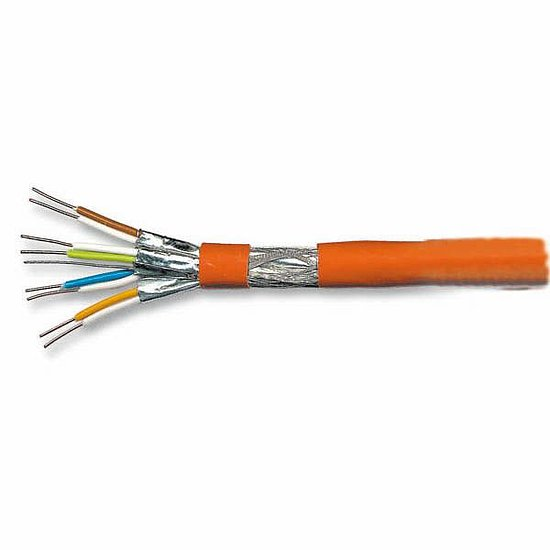 Bild 1 - DIGITUS CAT7 Verlegekabel Meterware orange 1200 MHz 10 GBit/s AWG23 Kupfer Halogenfrei