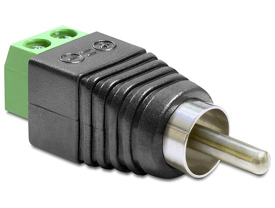 Bild 1 - Delock® Adapter Cinchstecker > Terminalblock 2 Pin