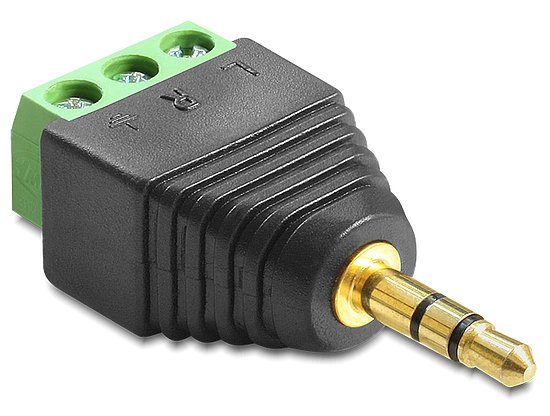 Bild 1 - Delock® Adapter Klinke Stecker 3,5 mm > Terminalblock 3 Pin