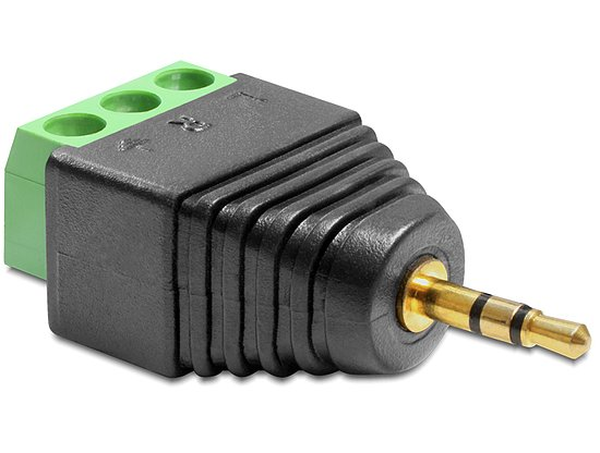 Bild 1 - Delock® Adapter Klinke Stecker 2,5 mm > Terminalblock 3 Pin