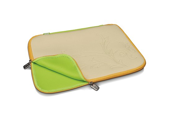 Bild 1 - Digitus Slimbag chicken scratch, beige/egg-yellow, (15,4 Zoll) DA-10504