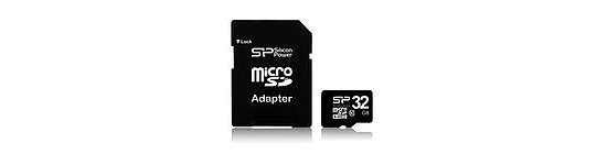 Bild 1 - micro SDHC-Karte 32 GB Silicon Power 32 GB Micro SDHC Class 1 inkl. SD-Adapter