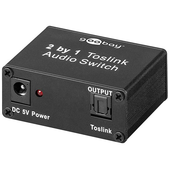 Bild 1 - Toslink Audio Switch 2 IN/1 OUT inkl. Netzteil 5V 1A