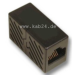 Modular-Adapter / Patchkabelverbinder CAT6 UTP, RJ45 Buchse/Buchse, 1:1 wired