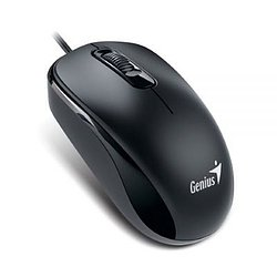 GENIUS Maus DX-110 Black optische 3-Tasten Scroll-Maus, 1000DPI