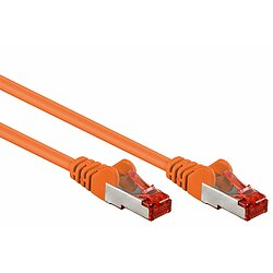 Kab24® CAT6 Patchkabel Netzwerkkabel orange S/FTP (PiMF) geschirmt Gigabit
