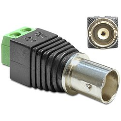 Delock® Adapter BNC Buchse > Terminalblock 2 Pin