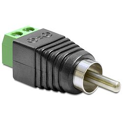 Delock® Adapter Cinchstecker > Terminalblock 2 Pin