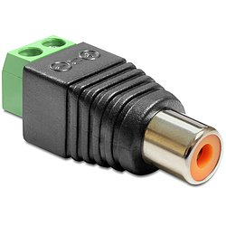 Delock® Adapter Cinchbuchse > Terminalblock 2 Pin