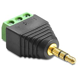 Delock® Adapter Klinke Stecker 3,5 mm > Terminalblock 3 Pin