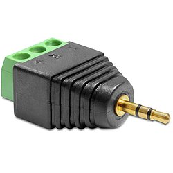 Delock® Adapter Klinke Stecker 2,5 mm > Terminalblock 3 Pin