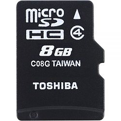 MicroSDHC 8GB TOSHIBA High Speed M102 - 8GB mit SD-Adapter Class 4