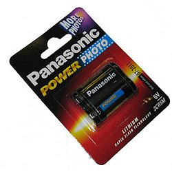2CR5 Photobatterie Panasonic 6V, 1600mAh