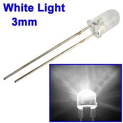 LED transparent klar weiss leuchtend 3mm