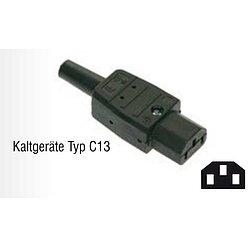 schwarz as 230 V Typ C15 Warmger/ät Schwabe 62082 Thermoplast-Ger/ätesteckdose 120/°