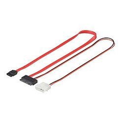 HDD Micro SATA Kabel 0,3m S-ATA 2 in1 Datensignal + Stromadapter