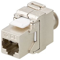 KeyStone Jack CAT 6a 500MHz RJ45, Toolless , Werkzeugfrei, STP, SNAP-IN geschirmt