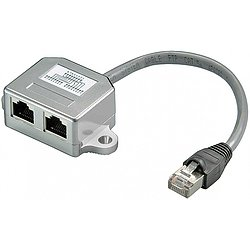 RJ45 Ethernet Netzwerk Cable Sharing-Adapter Cat5e